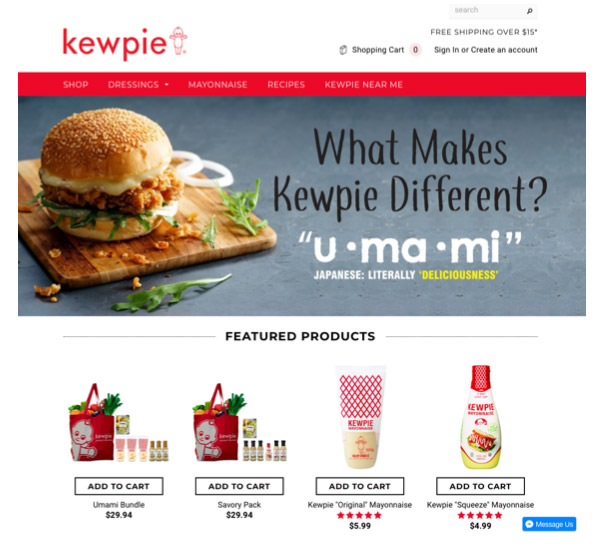 kewpie e-commerce site